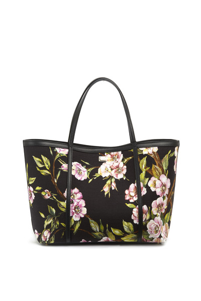 Dolce & Gabbana - Black Floral East West Tote