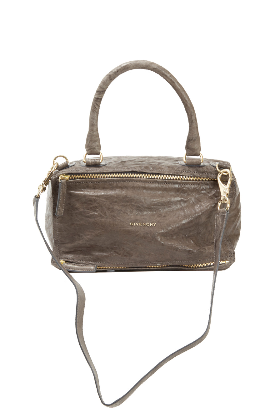 Pandora Anthracite Crinkled Leather Medium Bag