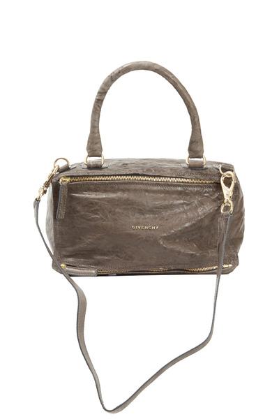 Givenchy - Pandora Anthracite Crinkled Leather Medium Bag