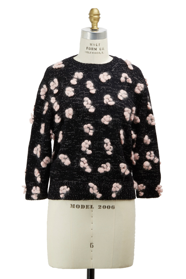 Candy Black & Rose Knit Sweater