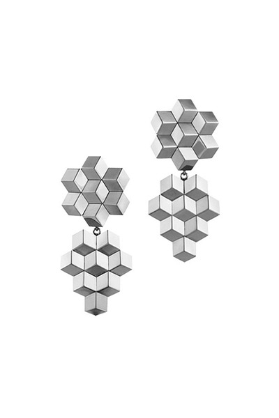 Paolo Costagli - White Gold Brillante Drop Earrings