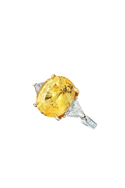 Paolo Costagli - Platinum Yellow Sapphire Diamond Ring