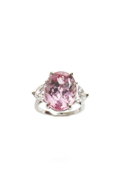 Paolo Costagli - Platinum Pink Topaz Diamond Ring