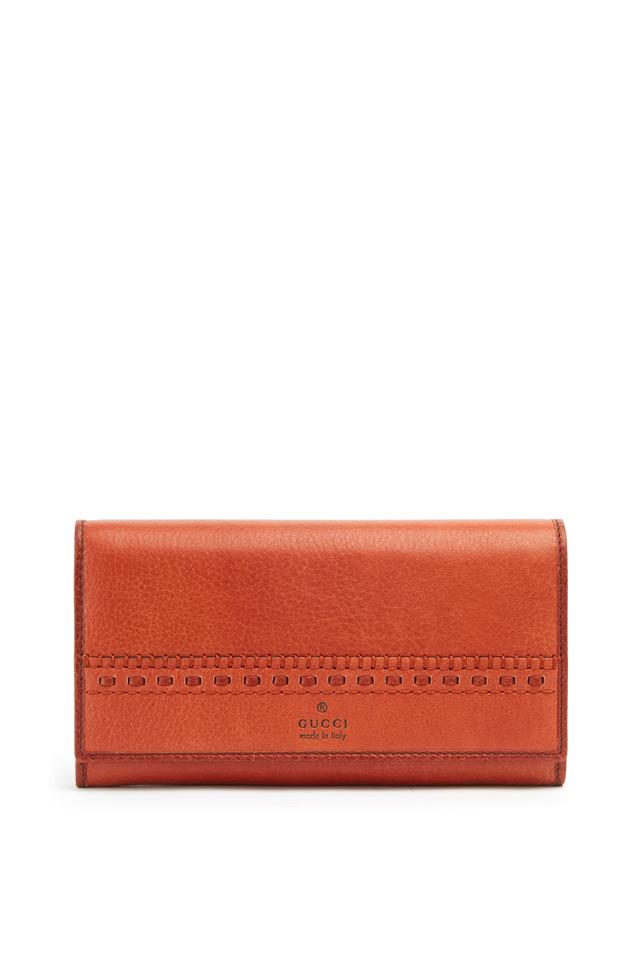 Russet Leather Flap Wallet