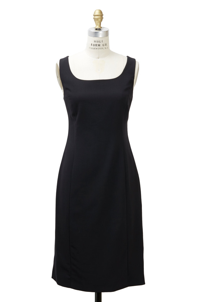 Black Crepe Tank Dress