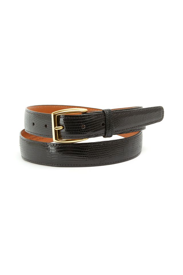 Windsor Black Lizard Belt