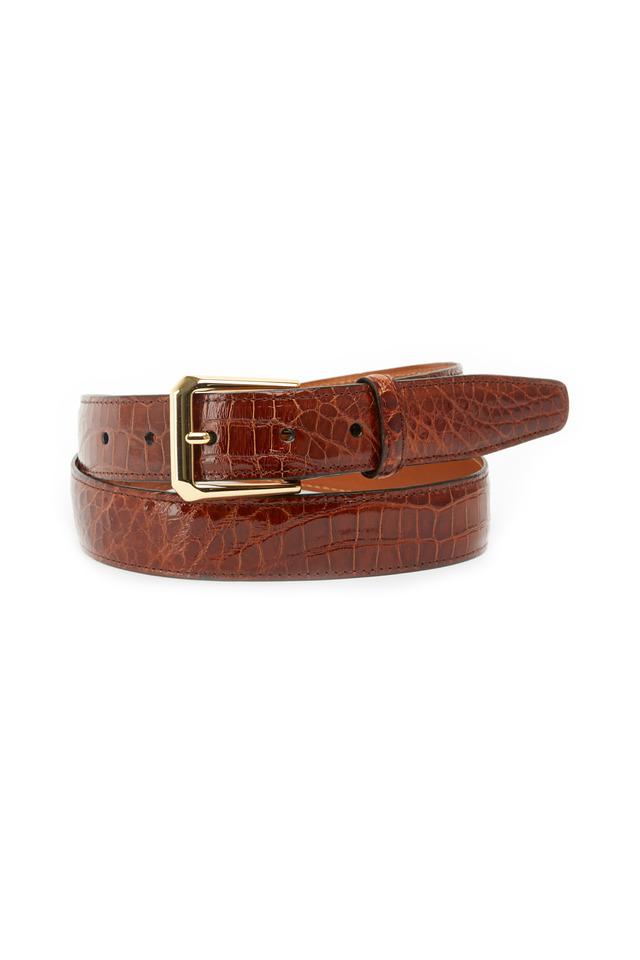 Classic Chestnut Alligator Belt