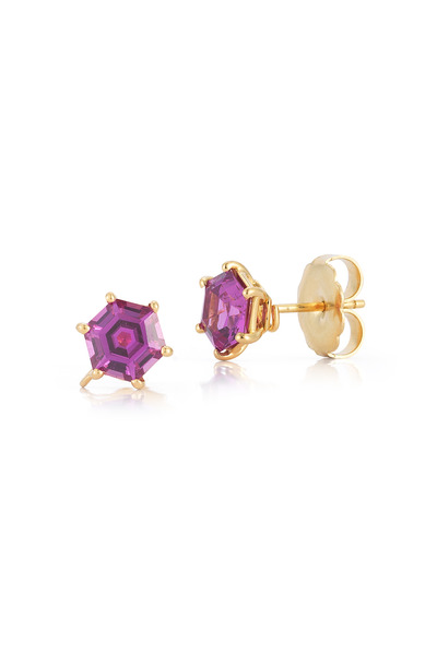 Paolo Costagli - Hexagonal Pink Sapphire Earrings