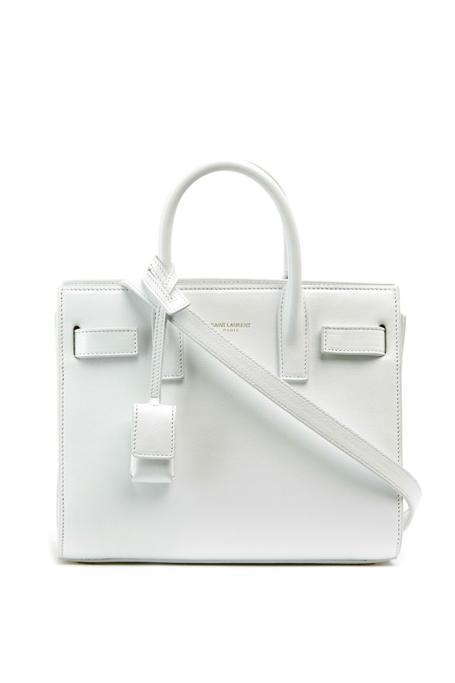 Nano Sac De Jour White Leather Small Tote