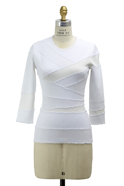 Alexander McQueen - White Rayon Knit Top