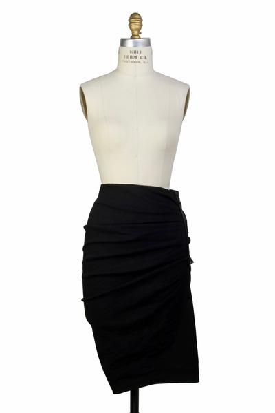 Lanvin - Black Linen Skirt