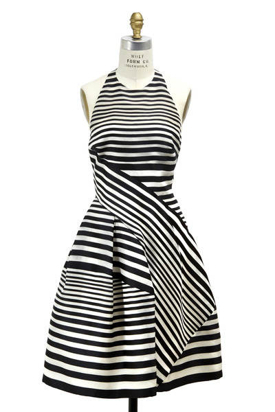 J. Mendel - Black & White Silk Dress