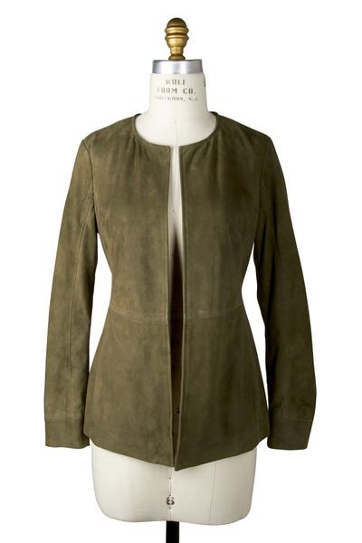 Etro - Olive Green Suede Jacket