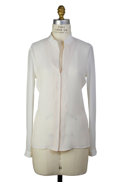 Akris - Ivory Silk Blouse