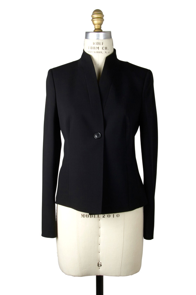 Black Knit Double-Faced Jacket
