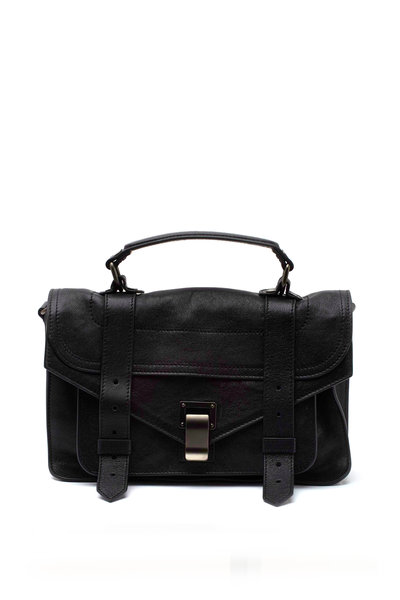 Proenza Schouler - PS1 Tiny Black Leather Crossbody