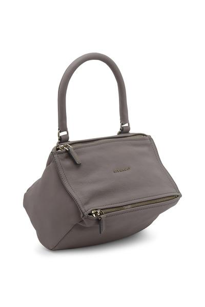 Givenchy - Pandora Gray Leather Small Messenger Bag