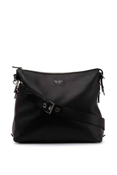 Prada - Black Leather Slouch Hobo