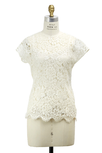 Dolce & Gabbana - White Lace Blouse
