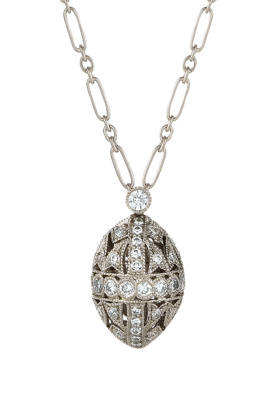 Kwiat - Vintage White Gold Diamond Capsule Pendant