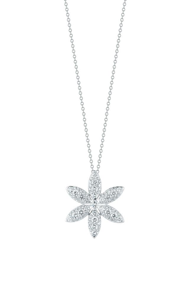 White Gold Diamond Pinwheel Pendant