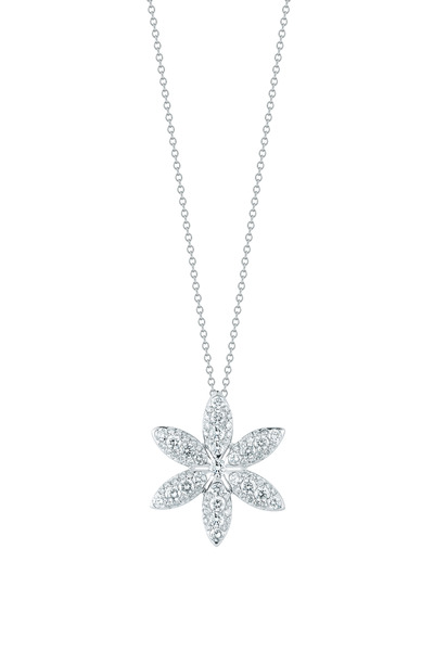 Kwiat - White Gold Diamond Pinwheel Pendant