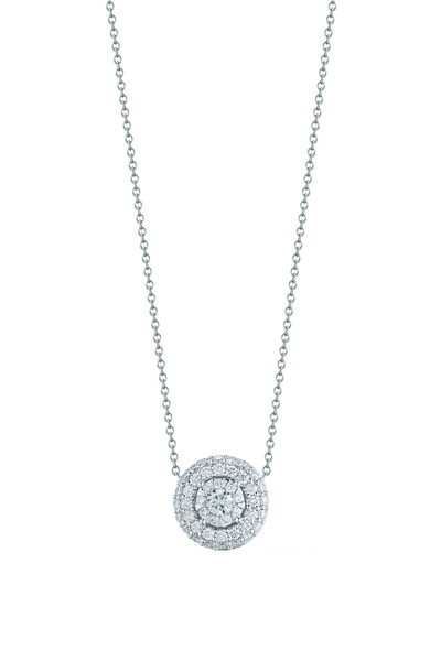 Kwiat - White Gold Diamond Sunburst Pendant
