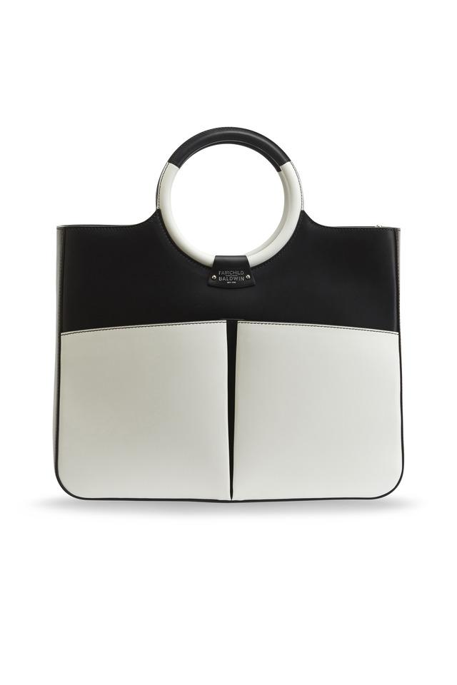 Victoria Black & White Leather Handbag