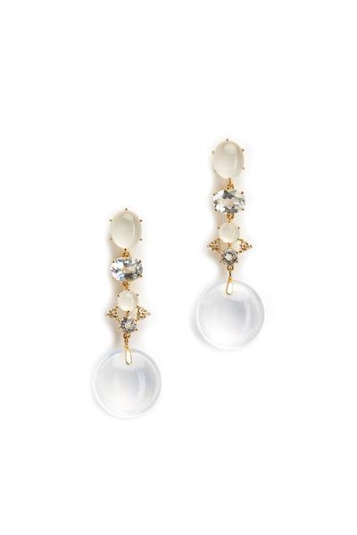 Nam Cho - Gold Silvolite Topaz Diamond Odalisque Earrings