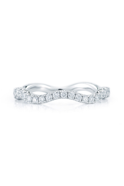 Kwiat - White Gold Diamond Wave Stack Ring