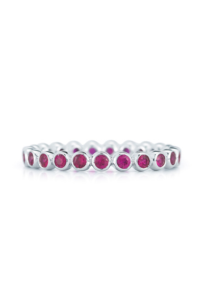 Kwiat - 18K White Gold Ruby Stackable Band