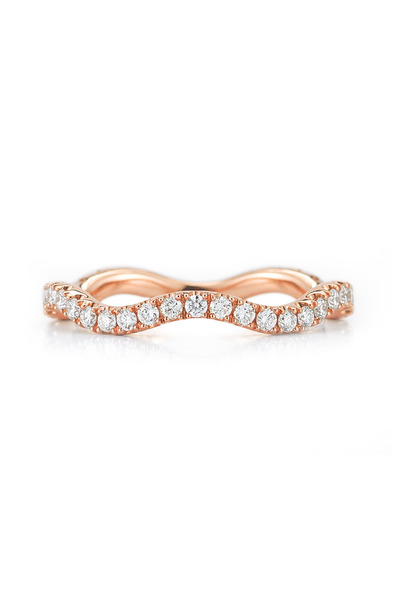 Kwiat - Pink Gold Diamond Wave Stack Ring