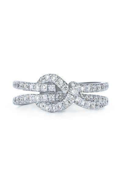 Kwiat - 18K White Gold Diamond Stackable Band