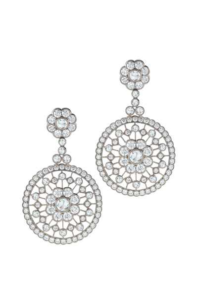 Kwiat - 18K White Gold Diamond Earrings
