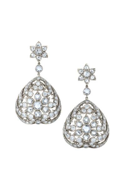 Kwiat - Vintage White Gold Diamond Earrings