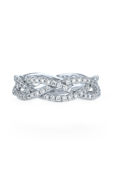 Kwiat - White Gold Diamond Twist Ring