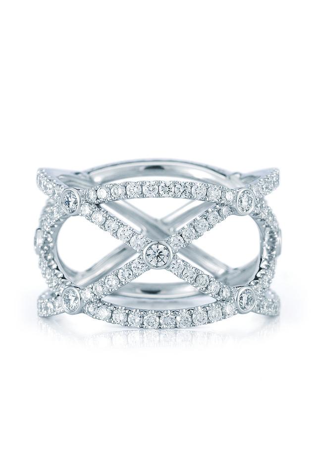 White Gold Diamond Confetti Ring