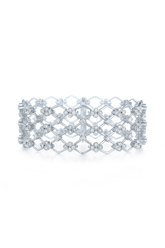 Jasmine White Gold Diamond Bracelet