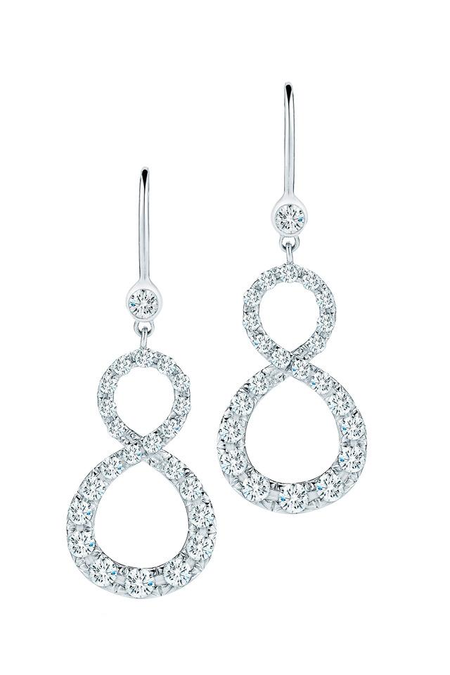 White Gold Elements Diamond Earrings