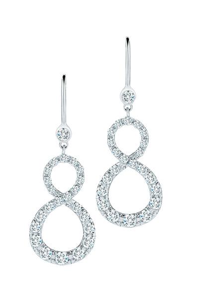 Kwiat - White Gold Elements Diamond Earrings