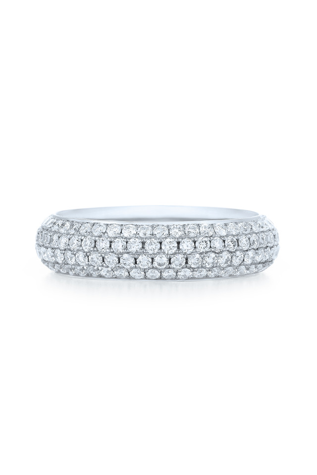 18K White Gold Pavé Diamond Ring