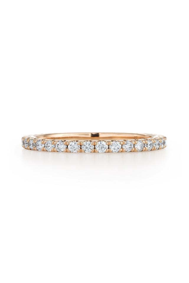 Pink Gold Diamond Stack Ring