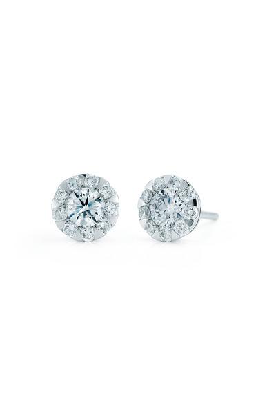 Kwiat - Sunburst White Gold Diamond Earrings