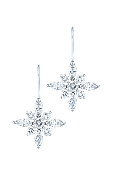 Kwiat - Star White Gold & Platinum Diamond Earrings