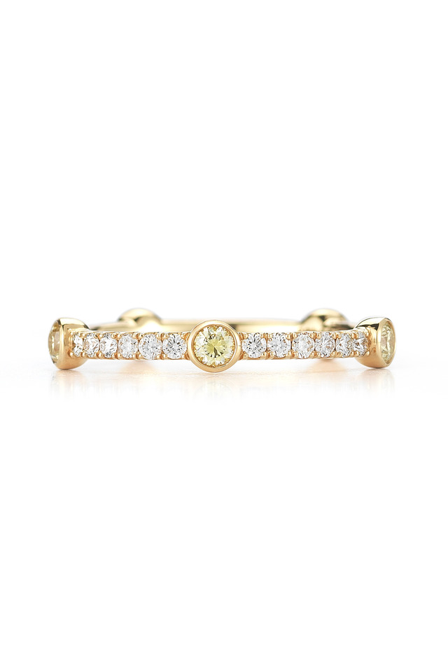 18K Yellow Gold Diamond Confetti Stackable Band
