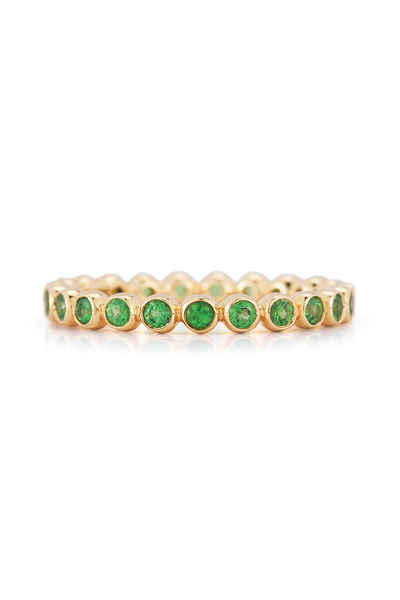Kwiat - Yellow Gold Tsavorite Bezel Stack Ring