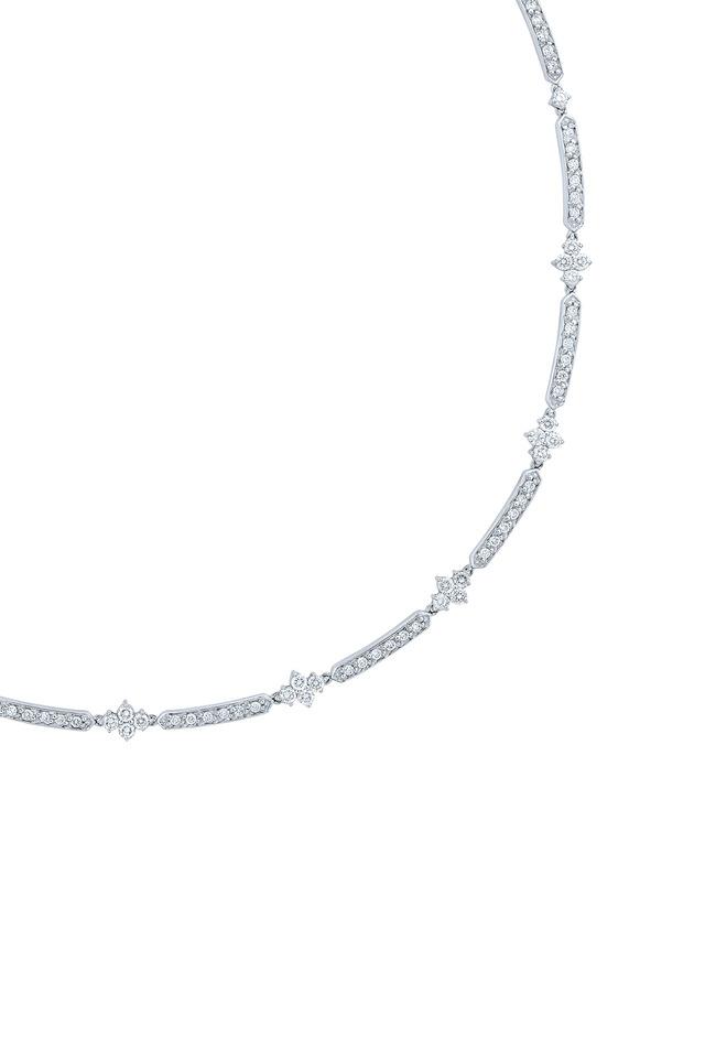 Jasmine White Gold Diamond Necklace