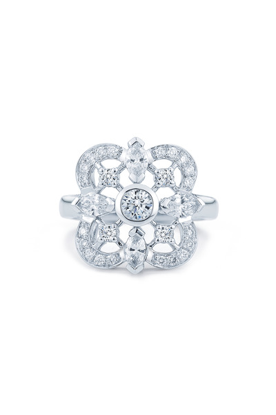 Kwiat - Clover White Gold Fancy Diamond Ring