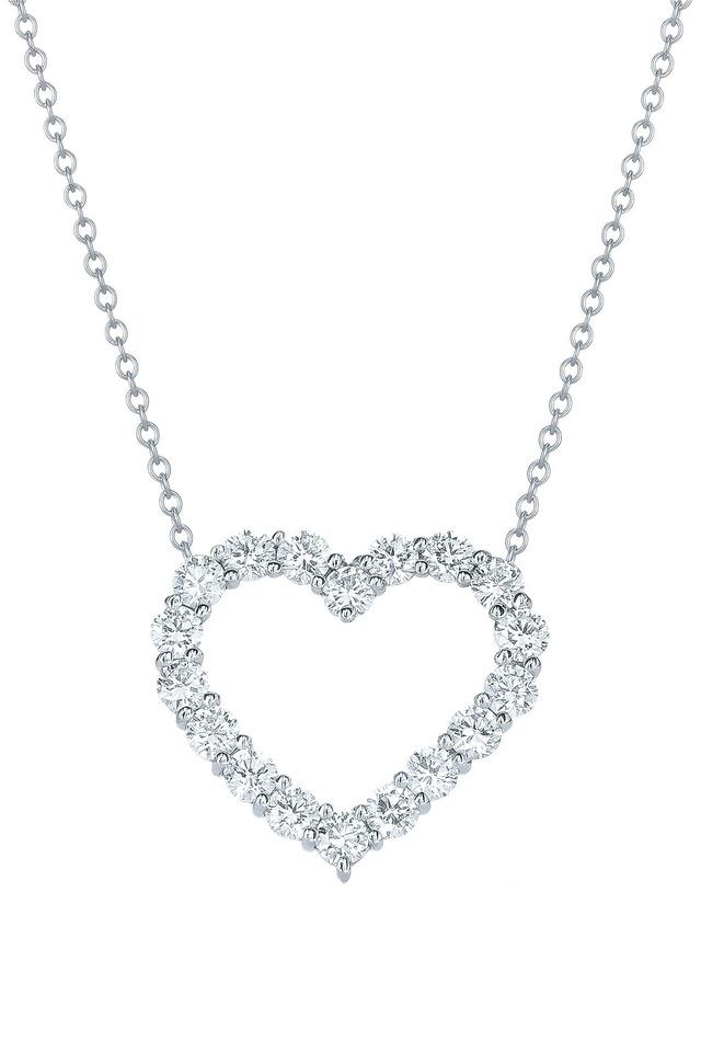 Hearts White Gold Diamond Pendant