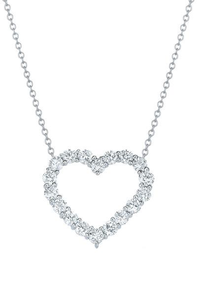 Kwiat - Hearts White Gold Diamond Pendant